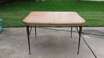 REDUCED! Vintage Mid Century Chrome/Formica Kitchen Table w 4 chairs