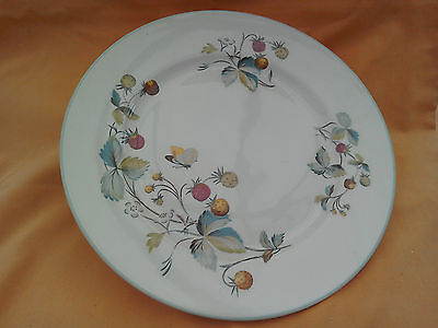 2 Royal Worcester Strawberry Fair dinner plates. 10 inch diameter. Quality.