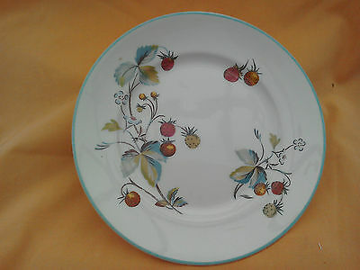 4 Royal Worcester Strawberry Fair side plates. 6 inch diameter. High quality