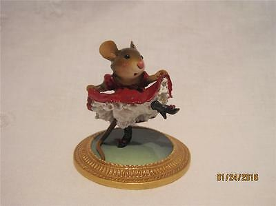 Wee Forest Folk Can-Can Mouse a la Toulouse Lautrec - Retired - WFF Box