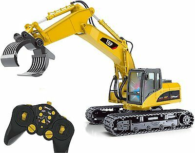 Top Race® 15 Channel Remote Control RC Fork Excavator Construction Grapple Fork