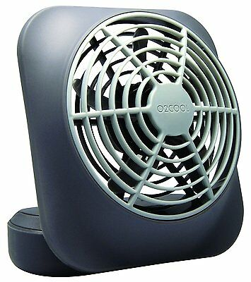 "02Cool 5"" Portable Volcano Grey Battery Operated Fan for Home, Office"