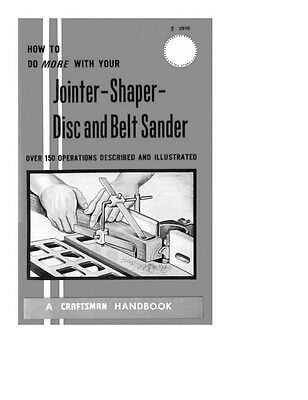 1969 Craftsman How to Do More with your Jointer-Shaper- Disc and Belt Sander