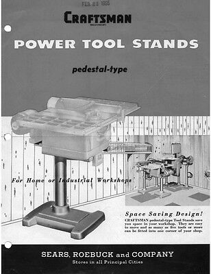 1955 Craftsman Power Tool Stands Instructions