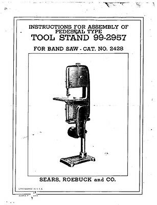 Craftsman 99-2957  Pedestal Style Tool Stand for 103.24280 Band Saw