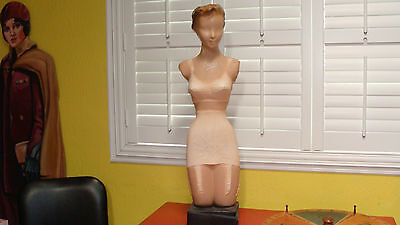 Vintage Deco Lady Mannequin Store Counter Under Garment Display Liane Lingerie