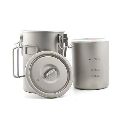 Keith Titanium Ti6300 Pot Outdoor Camping Titanium Picnic Rice Cookware