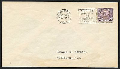 #570 On Worden Fdc Nov 11,1922 Cv $1,500 Wlm3354