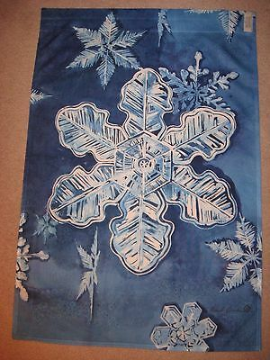 Toland House Winter Garden Flag Snowflakes Rare Edition Signed Michael Sparks
