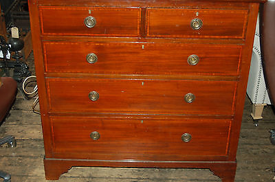 Edwardian mahogany chest of drawers with banding.....great conditiion