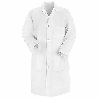 Red Kap Mens Lab Coat - XL - White