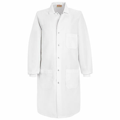 Red Kap Unisex Specialized Cuffed Lab Coat - Small - White