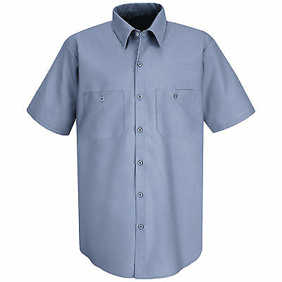 Red Kap Mens Short Sleeve Work Shirt - XL - Petrol Blue