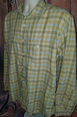 PATAGONIA Men's Large Button Front Casual Shirt, Outdoor Hiking, Organic Cotton