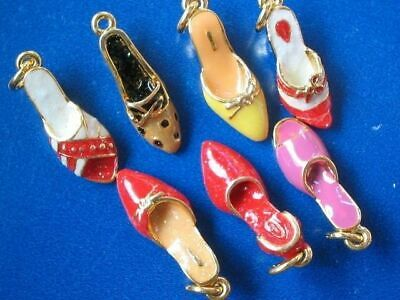 Wholesale Lot of 9 pcs High Heels Dangle Charms