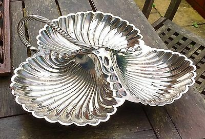 Vintage Silver Plated Shell Trefoil Dish. William Hutton & Sons.