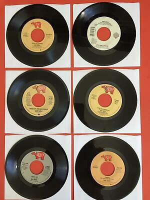 "BEE GEES Lot of 6  7"" 45rpm Vinyl VG+/VG++ JUKEBOX Jive One Words Liar Satisfied"