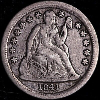VF+ 1841 Seated Liberty Dime R9JNT