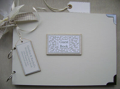 Personalised. Wedding Guest Book A4 Size.photo Album/Scrapbook/Memory Book.