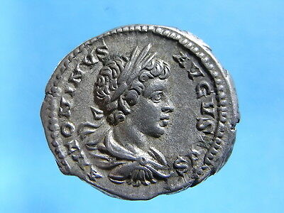 EF Imperial Roman AR Denarius Of Caracalla As Aug. R: Sol. 211-217 AD. (C305)