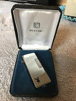 Vintage The Playboy Bunny Butane Lighter In Box New