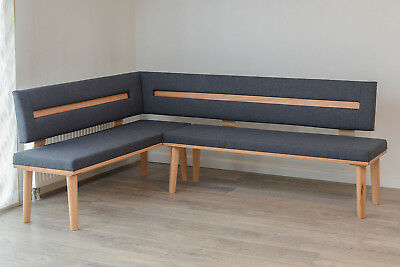 eckbank bank sitzbank lounge links eiche massiv 235 x185 cm