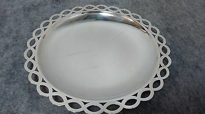 """Tiffany & Co. Sterling Sliver .925 - Large Round platter tray 9"""" diameter"""