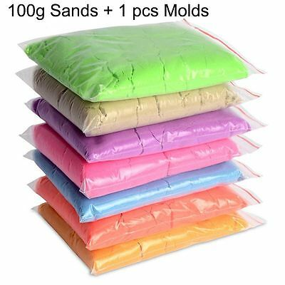 100g/bag+1 Mold Kinetic Clay Dynamic Sand Clay Amazing DIY Indoor Magic Playing
