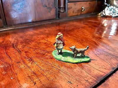 Vienna Cold Painted bronze Little Red Riding Hood Made In Austria Bergman. Sale
