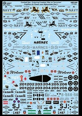 Air-Graphics 'On-Target' AIR72-002 Op Enduring Freedom 1/72 Scale Decals