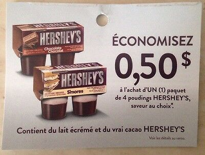Lot 12 x 0.50$ ANY HERSHEY'S 4 Pounding Products Canada Coupons