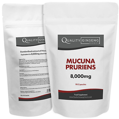 MUCUNA PRURIENS - 8,000mg Capsules - Powerful Formula - Best Quality on Ebay