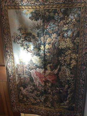 Gorgeous Gobelins French Tapestry 53x35 Inches