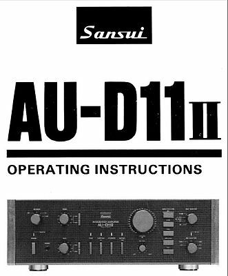 sansui au g11x integrated stereo amp operating instructions printed rh picclick co uk User Manual Clip Art User Guide