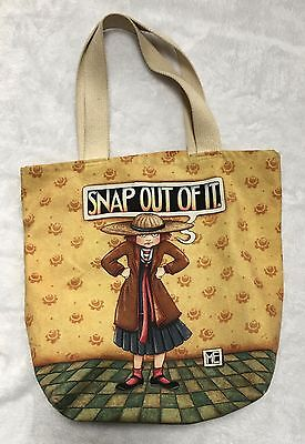 Mary Engelbreit Snap Out Of It Canvas Tote Bag Used