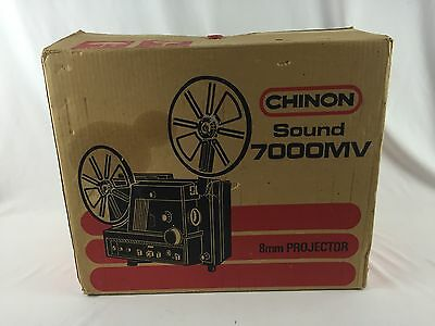 In Box CHINON 7000 MV SOUND Super 8mm Movie Film Projector Hardly Used, Tested!