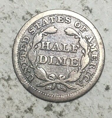 1853 Seated Liberty HALF DIME - 5 Cent