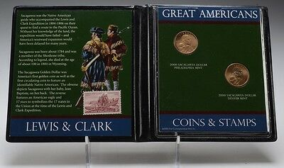 2000 P & D Sacagawea Dollars - UNC - Great Americans - First Commemorative Mint