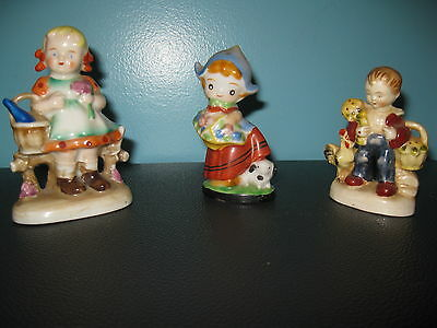 Vintage - Ceramic Figurines Made In Occupied Japan  - Lot of 3