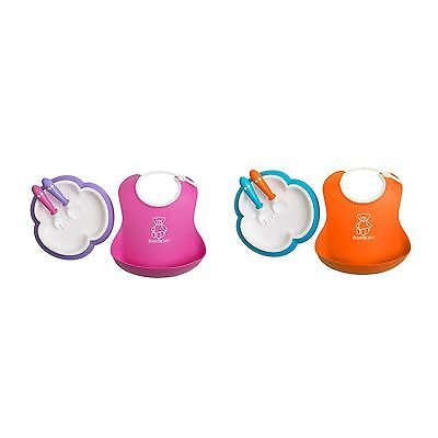 BabyBjorn Baby Feeding / Weaning Set With Plate / Fork / Spoon / Bib
