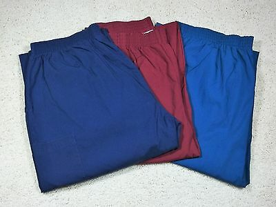 Dickies Brand Scrubs: 3 Different Colored Bottoms (XL) Some Never Worn!