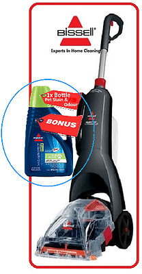 Bissell 20W7F ReadyClean Pet PowerBrush Carpet Cleaner + Bonus Bot Stain-Remover