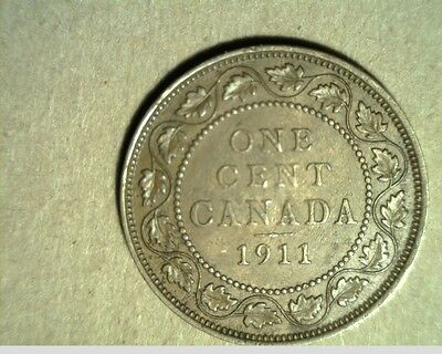1911 Canada, Large Cent, High Grade Bronze Coins (Can-414)