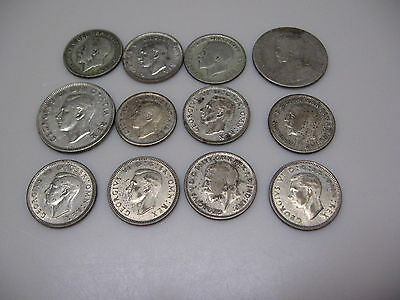 12 old world silver coins 38.4 grams