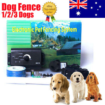 1-3 Electronic Dog Fencing Containment System Fence Boundary Collar Waterproof