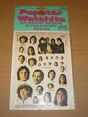 Mud 1975 Popstar Watchits - Letraset Action Transfers (Unused)