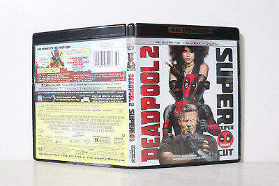 Deadpool 2 Super Duper Cut (4K Blu-ray Disc, 2018) - NEW 4K BLU-RAY & CASE ONLY