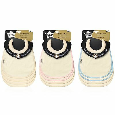 Tommee Tippee Closer to Nature Baby Milk Feeding Bibs 4-Pack Assorted