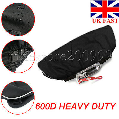 UK Heavy Duty 600D Waterproof Soft Winch Dust Cover 8,000-17,500 lbs Trailer ATV