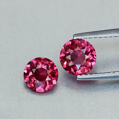 1.55 TCW~Round Cut~2 Pcs~Shimmering Pink~Burma~Natural~Spinel~GQ716